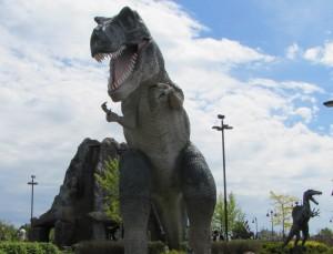 T-Rex statue at mini-golf
