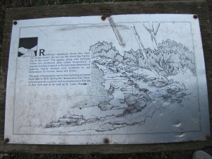 image of the creek and description of stones from there
