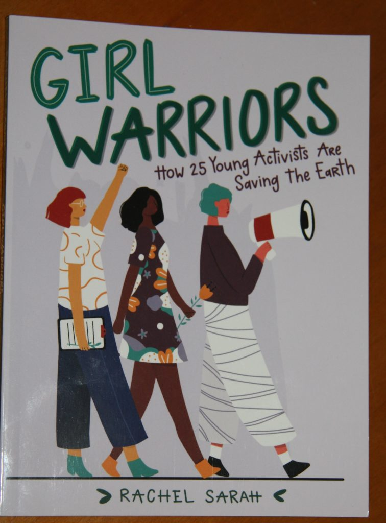 book cover, girls marching